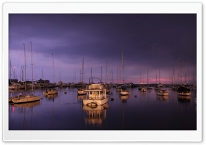 Yachts Evening HD Wide Wallpaper for Widescreen