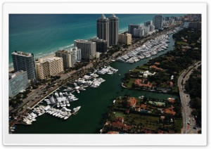 Yachts, Miami, Florida HD Wide Wallpaper for 4K UHD Widescreen desktop & smartphone