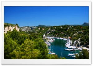 Yachts Tilt-Shift HD Wide Wallpaper for Widescreen