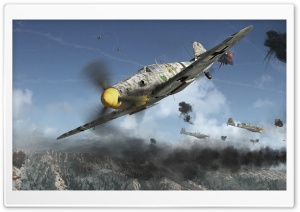 yak-9u Vs. Bf109G 6 HD Wide Wallpaper for 4K UHD Widescreen desktop & smartphone
