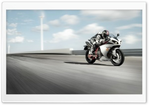 Yamaha R1 On Track HD Wide Wallpaper for Widescreen