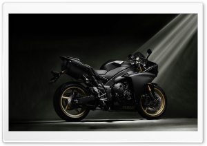 Yamaha YZF-R1 Black HD Wide Wallpaper for Widescreen