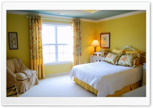 Yellow Bedroom Design HD Wide Wallpaper for Widescreen