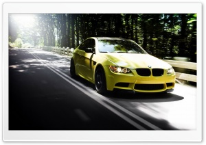 Yellow BMW HD Wide Wallpaper for Widescreen