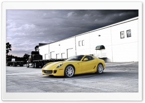 Yellow Ferrari HD Wide Wallpaper for Widescreen