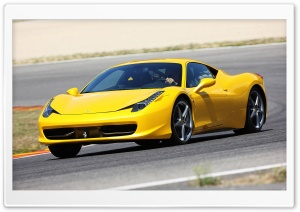 Yellow Ferrari 458 Italia HD Wide Wallpaper for Widescreen
