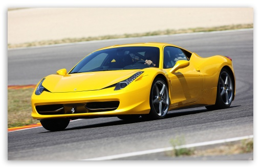 Yellow Ferrari 458 Italia HD wallpaper for Standard 4:3 5:4 Fullscreen UXGA XGA SVGA QSXGA SXGA ; Wide 16:10 5:3 Widescreen WHXGA WQXGA WUXGA WXGA WGA ; HD 16:9 High Definition WQHD QWXGA 1080p 900p 720p QHD nHD ; Other 3:2 DVGA HVGA HQVGA devices ( Apple PowerBook G4 iPhone 4 3G 3GS iPod Touch ) ; Mobile VGA WVGA iPhone iPad PSP Phone - VGA QVGA Smartphone ( PocketPC GPS iPod Zune BlackBerry HTC Samsung LG Nokia Eten Asus ) WVGA WQVGA Smartphone ( HTC Samsung Sony Ericsson LG Vertu MIO ) HVGA Smartphone ( Apple iPhone iPod BlackBerry HTC Samsung Nokia ) Sony PSP Zune HD Zen ; Dual 5:4 QSXGA SXGA ;