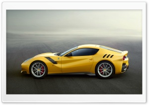 Yellow Ferrari F12 Sports Car HD Wide Wallpaper for 4K UHD Widescreen desktop & smartphone
