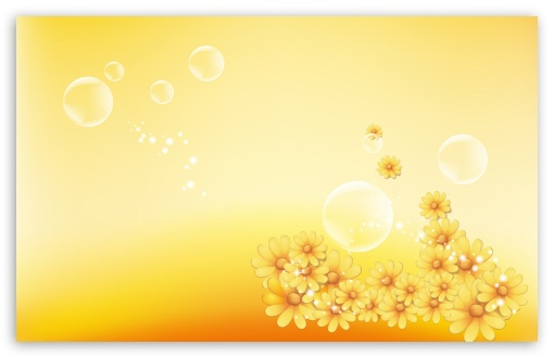 Yellow Flowers And Bubbles ❤ 4K UHD Wallpaper for Wide 16:10 5:3 Widescreen WHXGA WQXGA WUXGA WXGA WGA ; 4K UHD 16:9 Ultra High Definition 2160p 1440p 1080p 900p 720p ; Standard 4:3 5:4 3:2 Fullscreen UXGA XGA SVGA QSXGA SXGA DVGA HVGA HQVGA ( Apple PowerBook G4 iPhone 4 3G 3GS iPod Touch ) ; Tablet 1:1 ; iPad 1/2/Mini ; Mobile 4:3 5:3 3:2 16:9 5:4 - UXGA XGA SVGA WGA DVGA HVGA HQVGA ( Apple PowerBook G4 iPhone 4 3G 3GS iPod Touch ) 2160p 1440p 1080p 900p 720p QSXGA SXGA ;