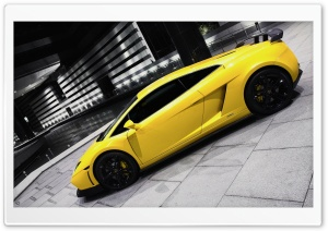 Yellow Lamborghini HD Wide Wallpaper for Widescreen