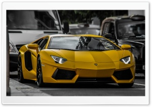 Yellow Lamborghini HDR HD Wide Wallpaper for Widescreen