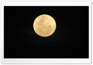 Yellow Moon HD Wide Wallpaper for Widescreen