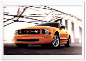 Yellow Mustang HD Wide Wallpaper for Widescreen