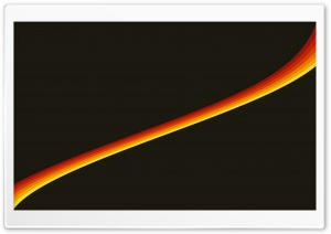 Yellow Orange Lines HD Wide Wallpaper for Widescreen