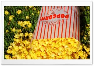 Yellow Popcorn HD Wide Wallpaper for Widescreen