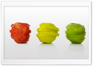 Yellow Red And Green Apples HD Wide Wallpaper for Widescreen