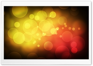 Yellow Red Bubbles HD Wide Wallpaper for Widescreen
