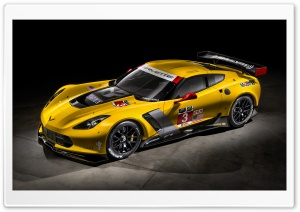Yellow Sport Chevrolet Corvette C7 R HD Wide Wallpaper for Widescreen