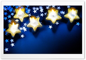 Yellow Stars HD Wide Wallpaper for Widescreen
