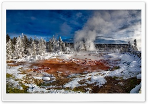Yellowstone Mudpots HD Wide Wallpaper for Widescreen