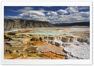 Yellowstone National Park Chalk Terraces HD Wide Wallpaper for Widescreen