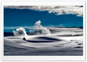Yellowstone National Park Winter HD Wide Wallpaper for Widescreen
