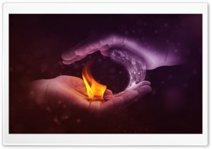 Yin Yang Fire -Water HD Wide Wallpaper for Widescreen