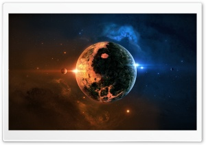 Yin Yang Planet HD Wide Wallpaper for Widescreen
