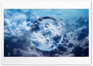 Ying Yang Clouds Ultra HD Wallpaper for 4K UHD Widescreen desktop, tablet & smartphone