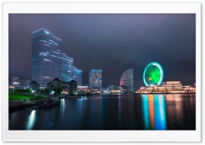 Yokohama Ferris Wheel HD Wide Wallpaper for 4K UHD Widescreen desktop & smartphone