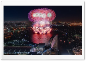 Yokohama Fireworks HD Wide Wallpaper for Widescreen