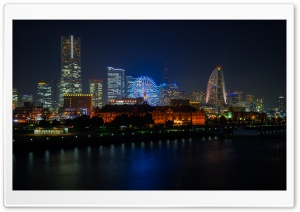 Yokohama Night HD Wide Wallpaper for Widescreen