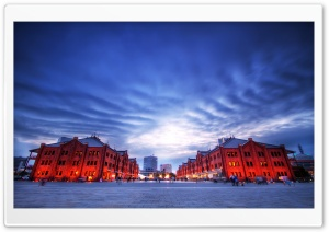 Yokohama Red Brick Warehouse HD Wide Wallpaper for Widescreen