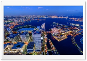 Yokohama Tokyo Bay HD Wide Wallpaper for Widescreen
