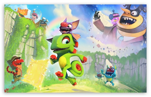 Yooka Laylee game, Chameleon Yooka, Bat Laylee ❤ 4K UHD Wallpaper for Wide 16:10 5:3 Widescreen WHXGA WQXGA WUXGA WXGA WGA ; 4K UHD 16:9 Ultra High Definition 2160p 1440p 1080p 900p 720p ; UHD 16:9 2160p 1440p 1080p 900p 720p ; Standard 3:2 Fullscreen DVGA HVGA HQVGA ( Apple PowerBook G4 iPhone 4 3G 3GS iPod Touch ) ; Smartphone 16:9 2160p 1440p 1080p 900p 720p ; Tablet 1:1 ; Mobile 5:3 3:2 16:9 - WGA DVGA HVGA HQVGA ( Apple PowerBook G4 iPhone 4 3G 3GS iPod Touch ) 2160p 1440p 1080p 900p 720p ;