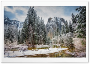 Yosemite Mountains Beautiful Little River HD Wide Wallpaper for Widescreen