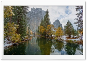 Yosemite National Park   Yellow Trees HD Wide Wallpaper for Widescreen