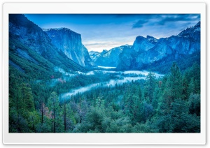 Yosemite National Park California USA Fog HD Wide Wallpaper for Widescreen