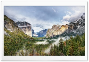 Yosemite National Park Forest Waterfall HD Wide Wallpaper for 4K UHD Widescreen desktop & smartphone