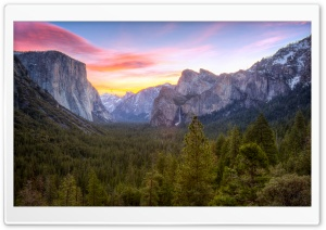 Yosemite Valley Sunrise HD Wide Wallpaper for Widescreen