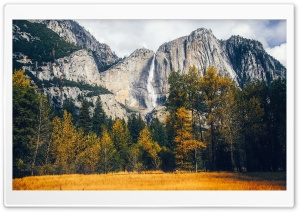 Yosemite Waterfalls Autumn HD Wide Wallpaper for 4K UHD Widescreen desktop & smartphone