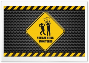 You Are Being Monitored HD Wide Wallpaper for Widescreen