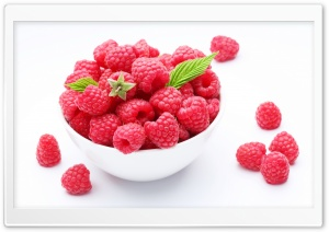 Yummy Raspberries HD Wide Wallpaper for Widescreen