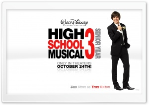 Zac Efron As Troy Bolton High School Musical HD Wide Wallpaper for Widescreen