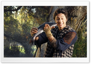 Zach Braff With Fish HD Wide Wallpaper for 4K UHD Widescreen desktop & smartphone