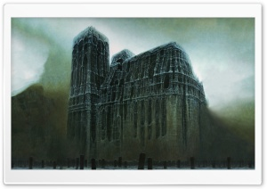 Zdzislaw Beksinski Cathedral HD Wide Wallpaper for Widescreen