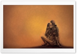 Zdzislaw Beksinski Embrace HD Wide Wallpaper for Widescreen