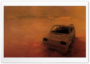 Zdzislaw Beksinski Stranded HD Wide Wallpaper for Widescreen