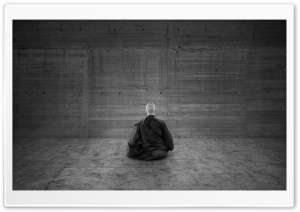 Zen Monk HD Wide Wallpaper for Widescreen