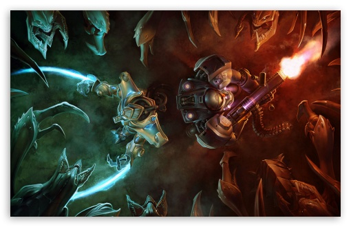 Zerg Ambush vs. Terran And Protoss HD wallpaper for Wide 16:10 5:3 Widescreen WHXGA WQXGA WUXGA WXGA WGA ; HD 16:9 High Definition WQHD QWXGA 1080p 900p 720p QHD nHD ; Standard 4:3 5:4 3:2 Fullscreen UXGA XGA SVGA QSXGA SXGA DVGA HVGA HQVGA devices ( Apple PowerBook G4 iPhone 4 3G 3GS iPod Touch ) ; iPad 1/2/Mini ; Mobile 4:3 5:3 3:2 16:9 5:4 - UXGA XGA SVGA WGA DVGA HVGA HQVGA devices ( Apple PowerBook G4 iPhone 4 3G 3GS iPod Touch ) WQHD QWXGA 1080p 900p 720p QHD nHD QSXGA SXGA ;